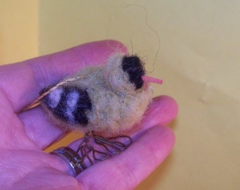 Needlefelted Yellow Finch