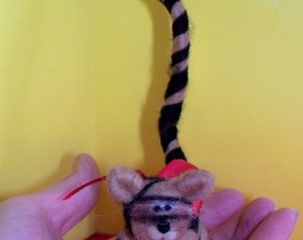 Tiger Felted Wool Ornament