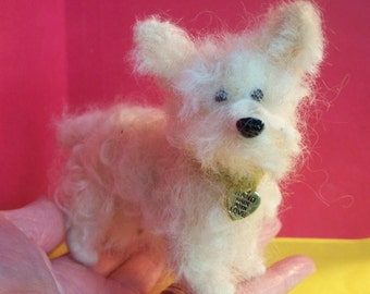 Terrier Dog Felted Wool Sculpture/Ornament