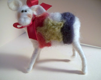 Red White and Blue Ewe Wool Sheep