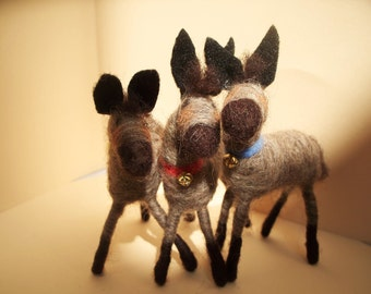 Baby Donkey Wool Wrapped Ornament/Sculpture