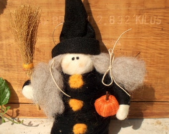 Witchy Witch Wool Halloween Decoration