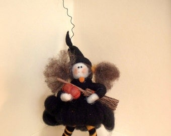 You Little Witch Wool Wrapped Doll