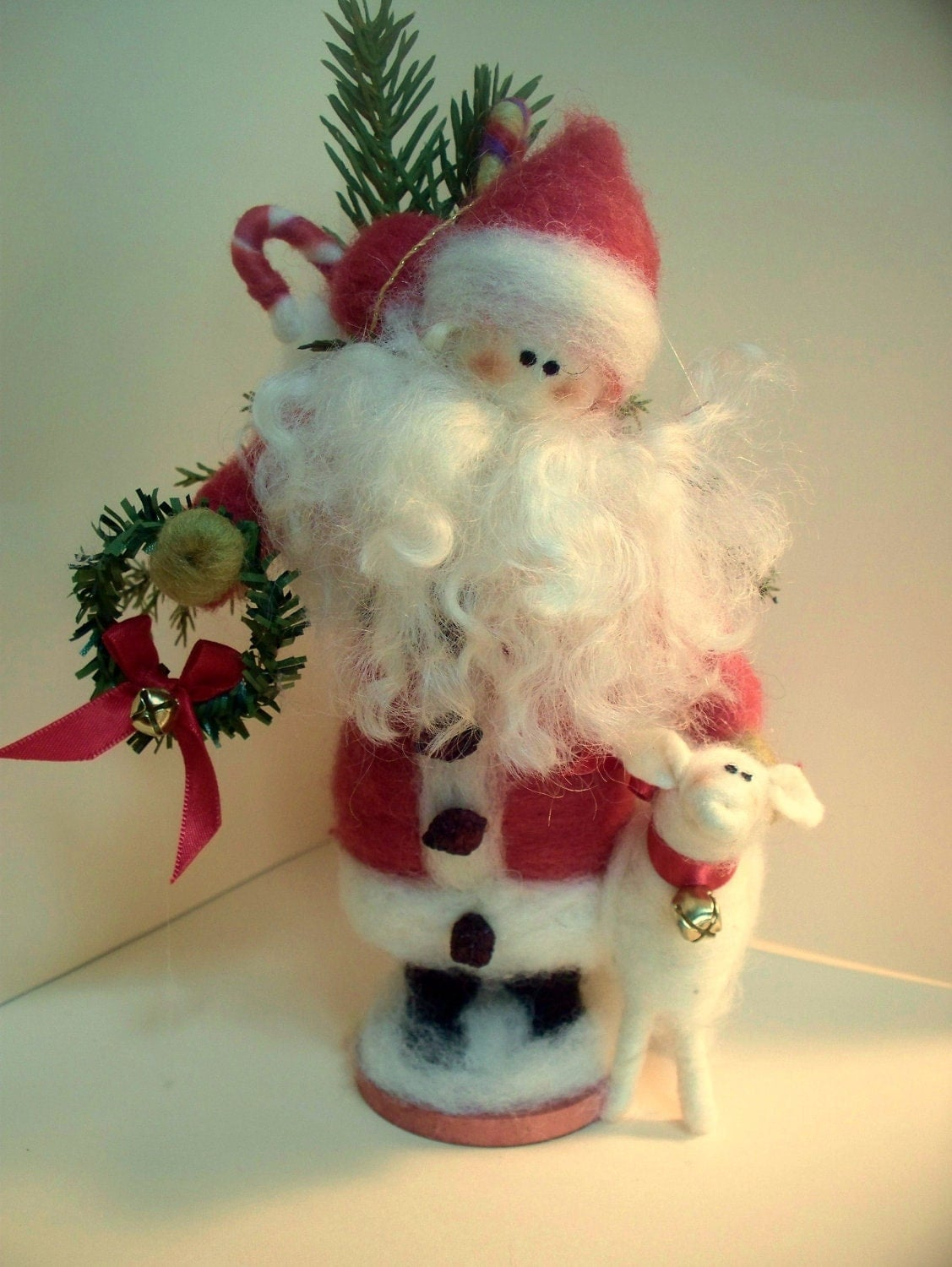 Wool Wrapped Ewe and Santa