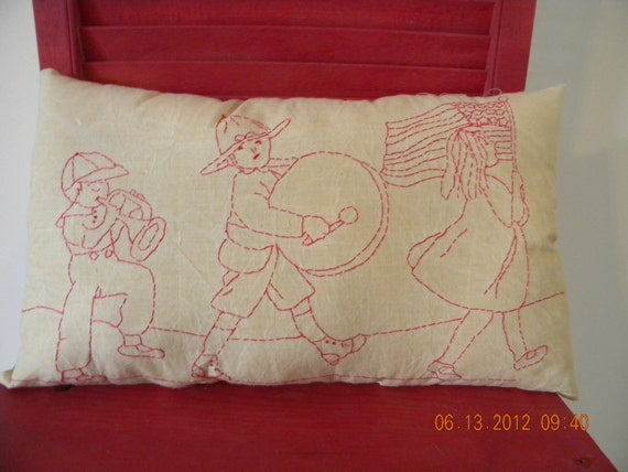 Primitive Stitchery Americana ON SALE  Children on Parade Redwork OFG Team FTTeam Where Rustics Reign