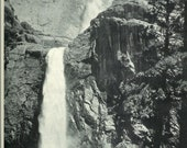 1940s Vintage Photograph - Upper Yosemite Falls - Wonderful 40s Vintage Book Art Photograph Great Vintage Print for Cottage or Cabin