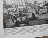 1898 Photography of Ireland - Dungarvan Square Waterford County - Antique Victorian Era Fine Art for Framing 100 Years Old