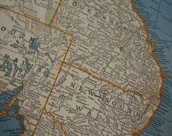 1937 Map Australia - Vintage Antique Map Great for Framing