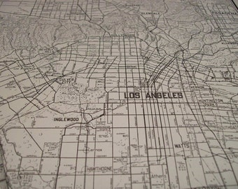 1941 City Map Los Angeles California - Vintage Antique Map Great for Framing