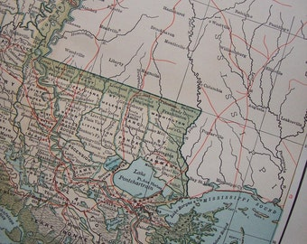 1903 State Map Louisiana - Vintage Antique Map Great for Framing 100 Years Old