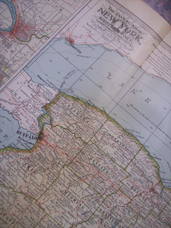 1911 State Map Western New York - Vintage Antique Map Great for Framing 100 Years Old