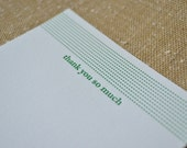 "Letterpress Thank You Cards - ""Elizabeth"""