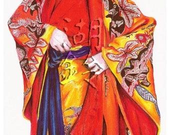Red Kimono (Print)