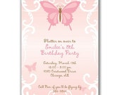 15 Beautiful Butterfly Invitations for Girls Birthday Party or Baby Shower