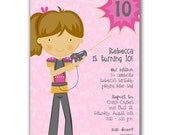 15 Laser Tag Girl Invitations for Kids Birthday Party