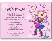 15 Rock Star Girl Invitations for a Kids Birthday Party Rockstar
