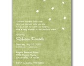 Twinkle Twinkle Little Star Invitations for a Baby Shower  Pink OR Green OR Blue OR Yellow