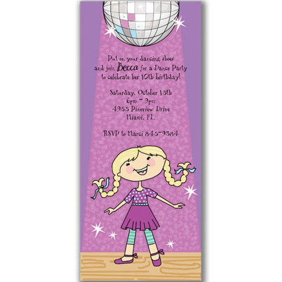 Similiar Dance Party Invitations For Toddlers Keywords – Disco Birthday Party Invitations