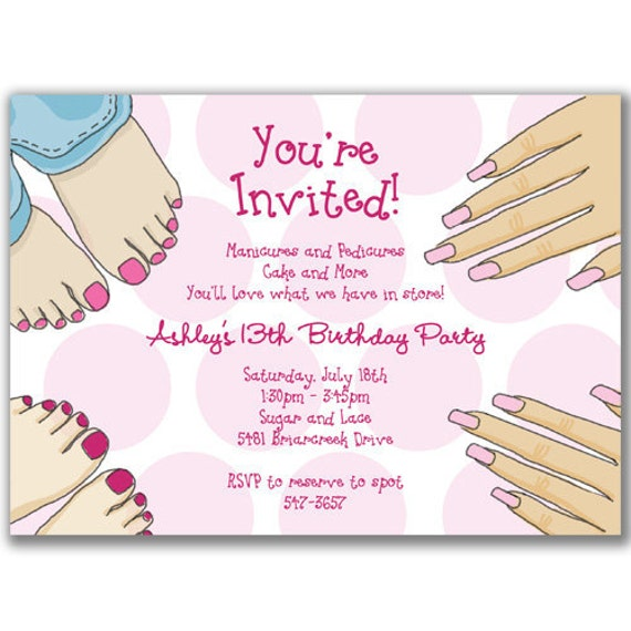 Pamper Party Invites for adorable invitation layout