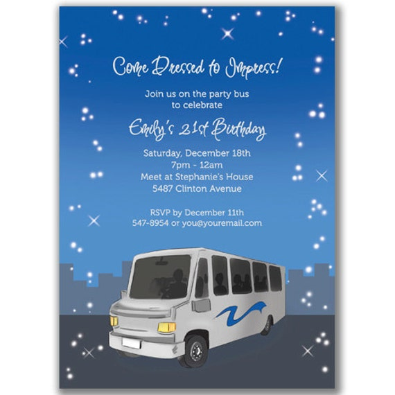 Party Bus Invitations is perfect invitations ideas