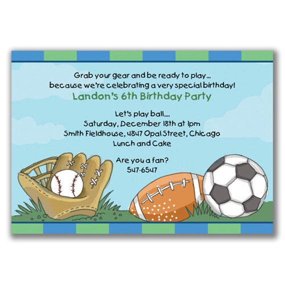 Similiar Sports Invitations Wording Keywords – Boy Birthday Invitation Wording