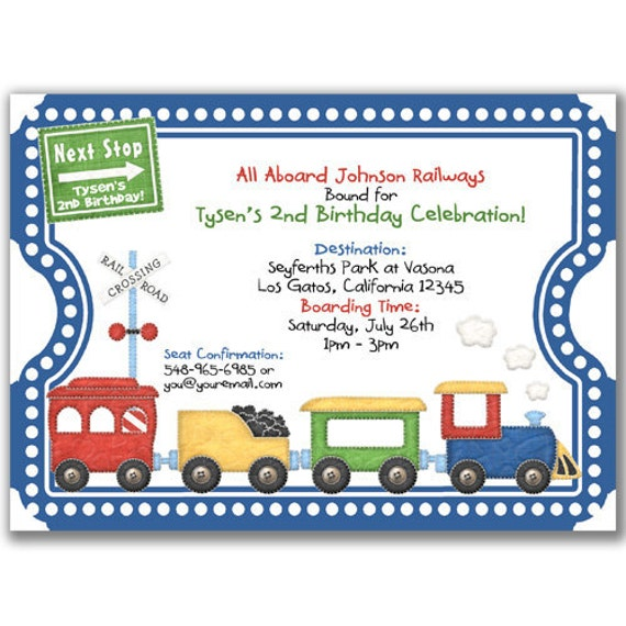 Thomas Party Invites was nice invitations sample
