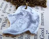 SHOP CLOSING SALE Little Teapot Antiqued Brass Necklace