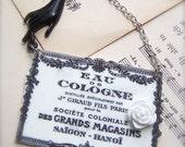 CLEARANCE Eau de Cologne French Label Necklace