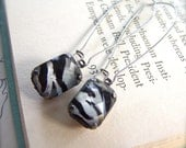 SHOP CLOSING SALE Zebra Stripe Luxe Earrings