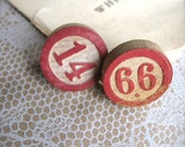 SHOP CLOSING SALE Vintage Lotto Tile Earrings - Silver Plated Posts