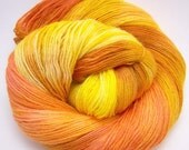 Handpainted Sock yarn-3oz Goldenrod