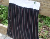 Red, White, and Black Pinstripe Skirt