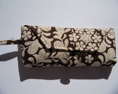 Tampon Purse in Brown & Ivory Floral