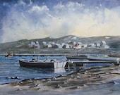 Boat Docks - ACEO