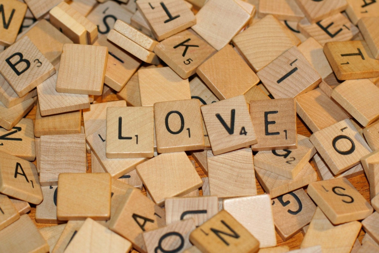 50 Wood Scrabble Tiles