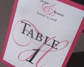 Classic Table Numbers Tent Style