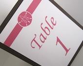 Custom Order-13 Single Sided Tent Beach Table Numbers
