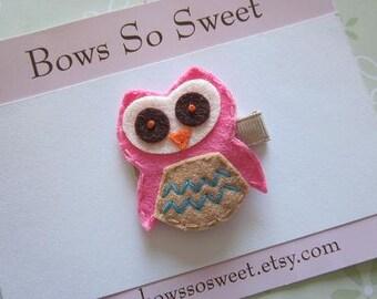 Owl Felt Hair Clip...Hillary the Hoot Owl