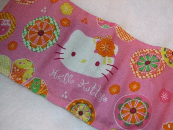 8 Count Crayon Keeper Roll Holder w/ pad Made With Retro Hello Kitty