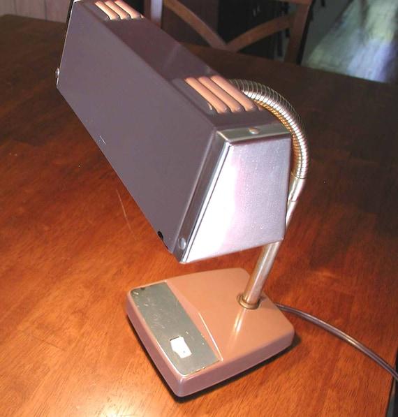 SALE - Mobilite Lamp  Vintage Gooseneck Brown Reading / Desk Light