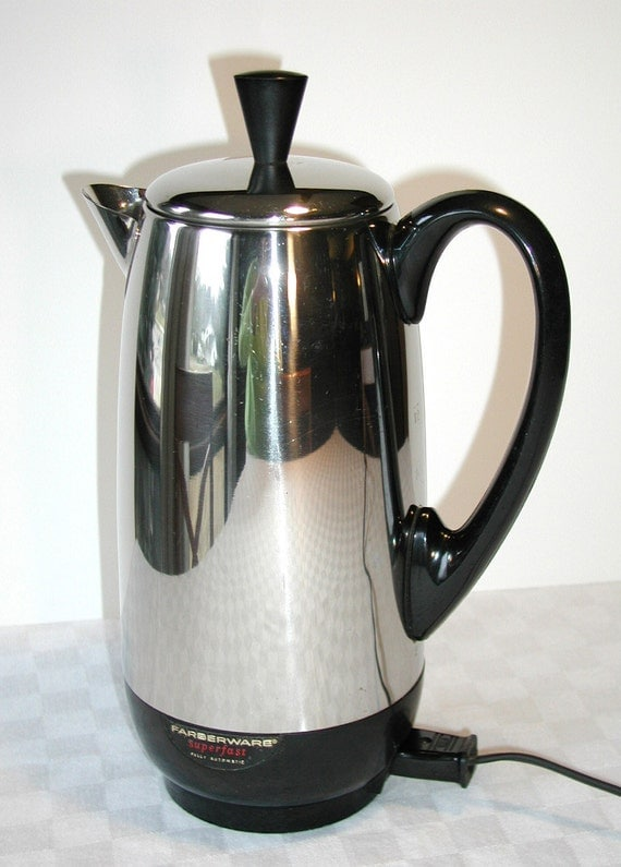 Electric Percolator Coffee Maker Reviews : Farberware Superfast 12 Cup Percolator Coffee Maker Vintage