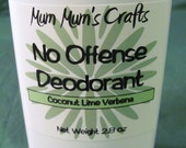 Natural Deodorant - No Offense Deodorant by Mum Mum's Crafts - Coconut Lime Verbena - Clean and Fresh