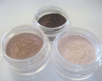 Mineral Eyeshadow Trio - Neutral Beauty - Stackable Sifter Jars