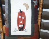 Autumn Wool Pillow Halloween Pumpkin Primitive