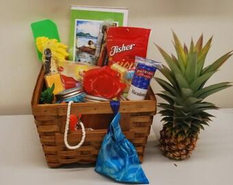Tropical Jam Basket Island Flavors Beach Mango  Pepper Jam Hostess Gift Birthday Jam Gift Basket