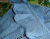 Hand knitted raffle and lace top