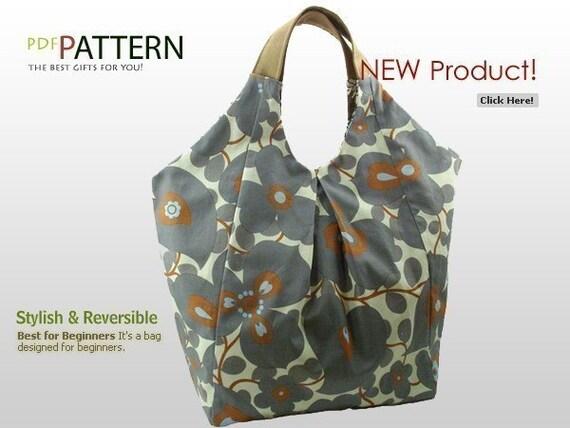 Stylish Shoulder Bag   PDF Pattern \/ Reversible