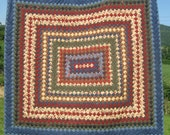 Trip Around the World with Wildflowers Hand Quilted Bed Quilt