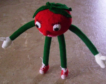 Bonnie's Crochet Cotton Thread Item Tomato Doll /Not A Toy
