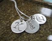 Personalized Hand Stamped Sterling Silver Initially Yours